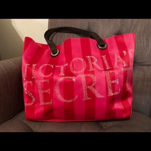 Rhinestone Victoria's Secret Tote Bag